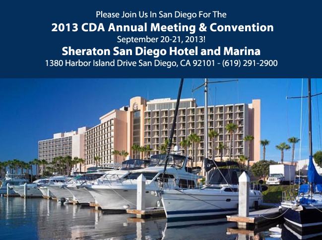 Join un in for the 2013 Annual CDA Meeting and Convention